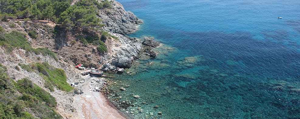 The sea at Chiessi - Elba Island