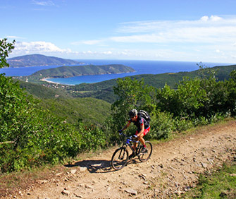 Sport: mountainbike on Elba Island